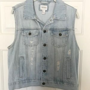 Forever 21 Light Denim Vest